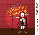 stand up comedy vaporizer theme ... | Shutterstock .eps vector #1034235805