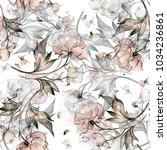 Seamless Peony Pattern With...