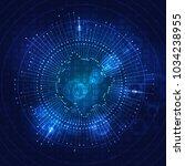 big data visualization....   Shutterstock . vector #1034238955