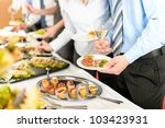 catering at business company... | Shutterstock . vector #103423931