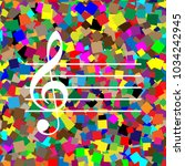 music violin clef sign. g clef. ... | Shutterstock .eps vector #1034242945