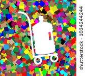 plastic bottle silhouette with... | Shutterstock .eps vector #1034244244