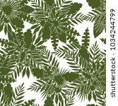 seamless pattern of tropical... | Shutterstock .eps vector #1034244799