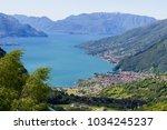 view of como lake in peglio...   Shutterstock . vector #1034245237