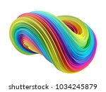 3d colorful abstract waves... | Shutterstock . vector #1034245879