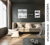 interior living room  black... | Shutterstock . vector #1034245894
