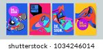 abstract colorful collage... | Shutterstock .eps vector #1034246014
