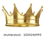 royal gold crown isolated on... | Shutterstock . vector #1034246995