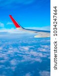 view from the airplane window...   Shutterstock . vector #1034247664