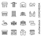 flat vector icon set   store... | Shutterstock .eps vector #1034248204