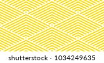 Design summer background chevron pattern stripe seamless yellow and white. | Shutterstock vector #1034249635