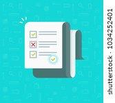survey or exam form long paper... | Shutterstock .eps vector #1034252401