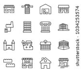 flat vector icon set   shop... | Shutterstock .eps vector #1034253574