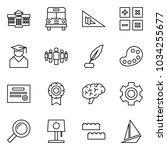 flat vector icon set  ... | Shutterstock .eps vector #1034255677