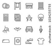 flat vector icon set   rings... | Shutterstock .eps vector #1034255755