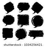 paint brush stroke grungy... | Shutterstock .eps vector #1034256421