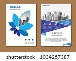 design cover poster a4 catalog... | Shutterstock .eps vector #1034257387