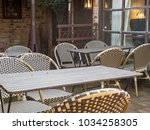 outdoor resturant waiting for... | Shutterstock . vector #1034258305