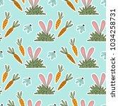 seamless spring vector pattern... | Shutterstock .eps vector #1034258731