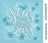 seas the day. handdrawn vector... | Shutterstock .eps vector #1034260699