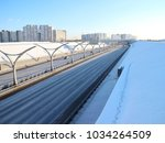 expressway on a winter day   Shutterstock . vector #1034264509