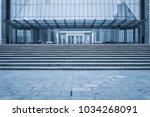 entrance of modern office... | Shutterstock . vector #1034268091