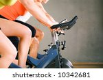 three people working out on a... | Shutterstock . vector #10342681