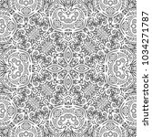 vector abstract ethnic line art ... | Shutterstock .eps vector #1034271787