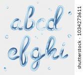 3d font. transparent letters a  ... | Shutterstock .eps vector #1034273611