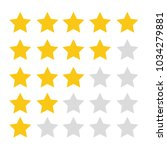 star review rating vector icons.... | Shutterstock .eps vector #1034279881