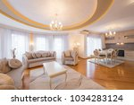 interior of a luxury  open plan ... | Shutterstock . vector #1034283124