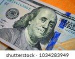 benjamin franklin on dollar bill | Shutterstock . vector #1034283949