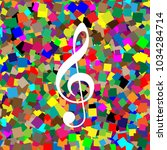 music violin clef sign. g clef. ... | Shutterstock .eps vector #1034284714