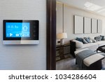 smart home system on... | Shutterstock . vector #1034286604