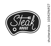 steak house. steak lettering... | Shutterstock .eps vector #1034296927
