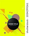 cute memphis design placard... | Shutterstock .eps vector #1034299261