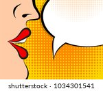 pop art retro style comic book... | Shutterstock .eps vector #1034301541