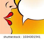 pop art retro style comic book... | Shutterstock .eps vector #1034301541