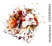 vector color illustration fox... | Shutterstock .eps vector #1034309041