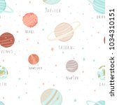 seamless pattern with stars ... | Shutterstock .eps vector #1034310151