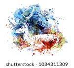 vector color illustration of... | Shutterstock .eps vector #1034311309