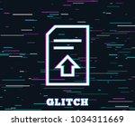 glitch effect. upload document...