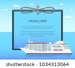 cruise liner colorful banner...   Shutterstock .eps vector #1034313064