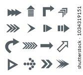 arrow icon. vector   Shutterstock .eps vector #1034319151