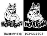"print on t shirt ""hooligan""... | Shutterstock .eps vector #1034319805"