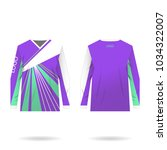 female jersey design for... | Shutterstock .eps vector #1034322007