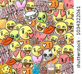 emoticon background  emoji... | Shutterstock .eps vector #1034322061