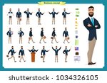 people character business set... | Shutterstock .eps vector #1034326105