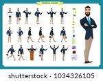 people character business set... | Shutterstock .eps vector #1034326105