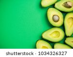 Avocado On Pastel Background...